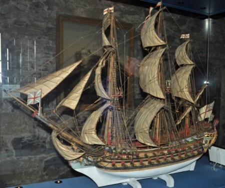 Edinburgh Castle Prisons Of War Model Ship