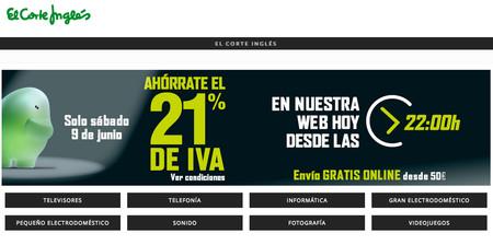 Regresa el Día sin IVA a El Corte Inglés: desde las 22h en la web y a partir del sábado 9 en tienda