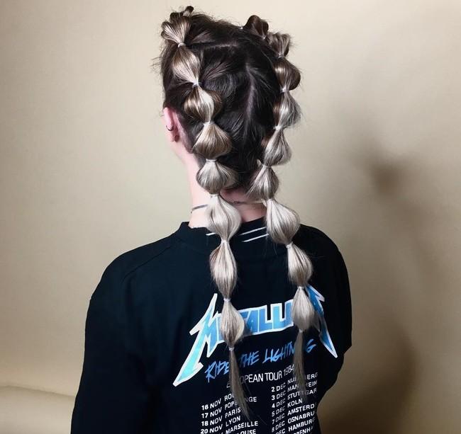 bubble braids trenzas burbujas trendy cabello melena cabello