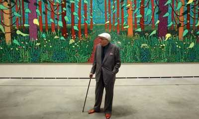 David Hockney en el Museo Guggenheim de Bilbao