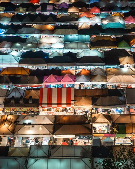 Bangkok Market From Above By Michelle Wandering Netherlands