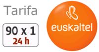 Nueva tarifa 90×1 24 horas de Euskaltel