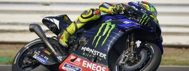 Maverick Viñales mantiene el misterioso tubo de escape hipertrofiado de Yamaha en los FP1 de Misano