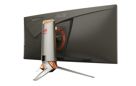 Asus Rog Pg34q Back View