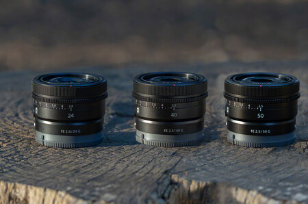 Sony presenta tres objetivos fijos, compactos y ligeros para sus cámaras FF: FE 50mm F2.5 G, FE 40mm F2.5 G y FE 24mm F2.8 G