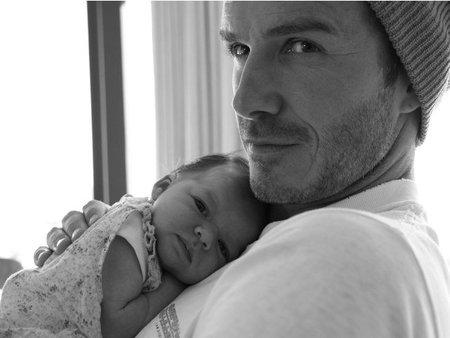 David Beckham y su nena, ains no me canso de mirarlos