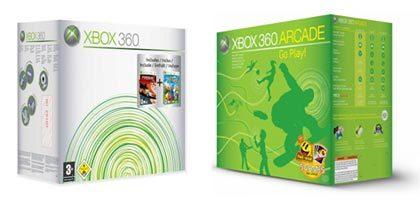 Nuevos packs navideños de Xbox 360