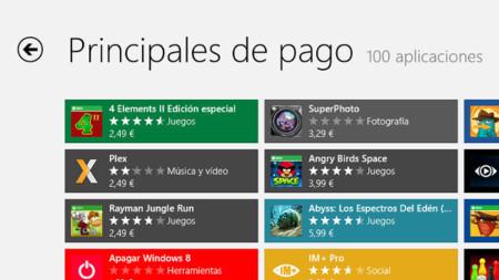 Aplicaciones de pago en la tienda de Windows 8