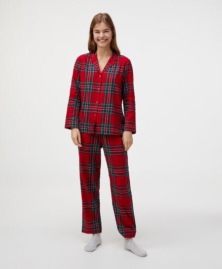 Pijama Tartan Navidad Oysho 00002