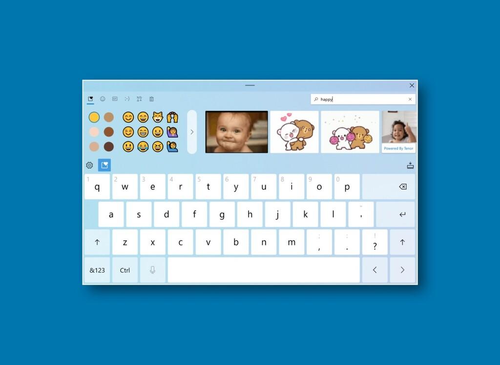 Estos son los fondos que llegarán con Sun Valley para cambiar el diseño del teclado táctil en Windows 10