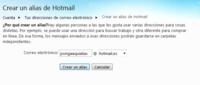 Hotmail permite crear alias de nuestras direcciones de correo