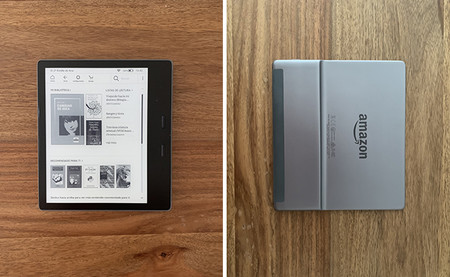 Kindle Oasis, frontal y trasera