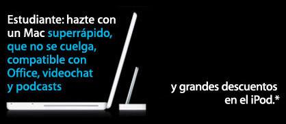 Promoción de estudiantes en la Apple Store española: 160 euros de descuento en un iPod