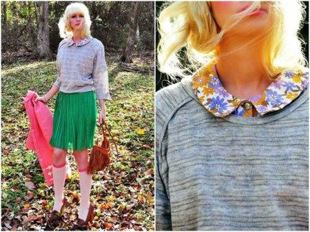 Blusa estampada moda en la calle