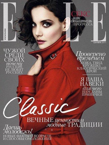 Duelo de portadas: Elle Rusia, ¿Katie Holmes o Caroline Winberg?