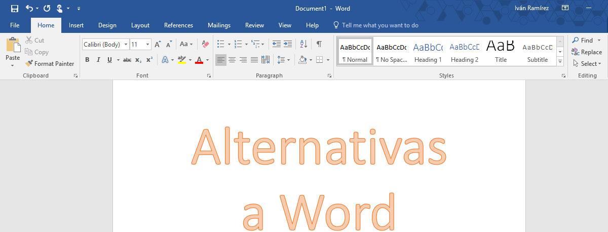 Alternativas gratis a Word