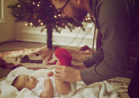 Navidad Bebe Papa