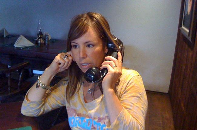 En el teléfono