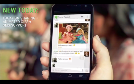 Google Hangouts incorpora SMS, gifs animados y localización