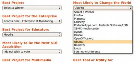 Votar Sourceforge 2008