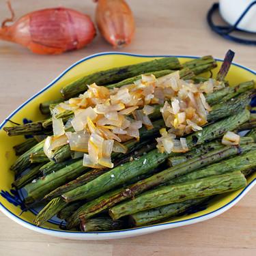 Judías verdes asadas al balsámico: receta fácil de guarnición