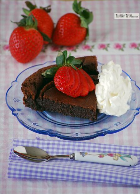 Pastel De Chocolate Cremoso Sin Harina