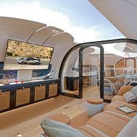 Una pantalla gigante como techo en el avión, así es la propuesta de Airbus y Pagani