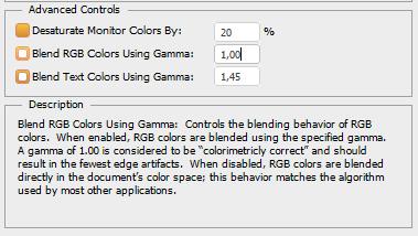 Valores Rgb Gamma 2