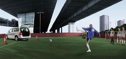 David Beckham y el Volkswagen Touran protagonizan juegos en flash