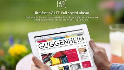 La conexión LTE del nuevo iPad de momento sólo se podrá usar en EEUU