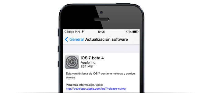 apple iphone ios 7 beta 4