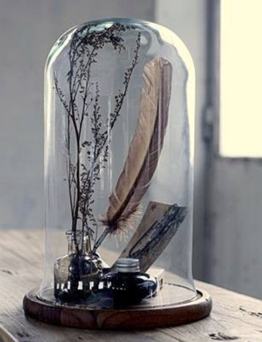 campanas de cristal de menaje a adorno