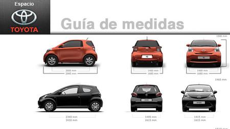 Guía de medidas y proporciones de los vehículos Toyota