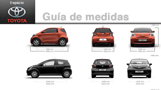 Gu a de medidas y proporciones de los veh culos toyota for Medidas de un carro arquitectura
