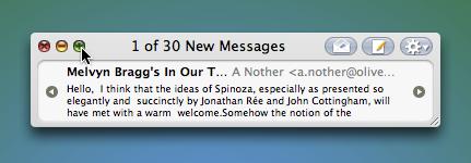 Minimail, reduce el tamaño de Mail como el minireproductor de iTunes