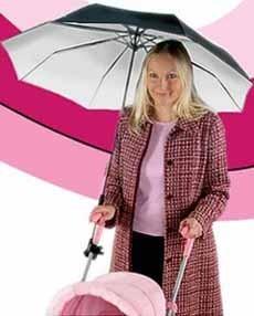 Paraguas para el carrito, y tú con las dos manos libres