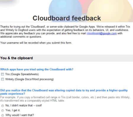 Rumor: Google Cloudboard, un portapapeles online