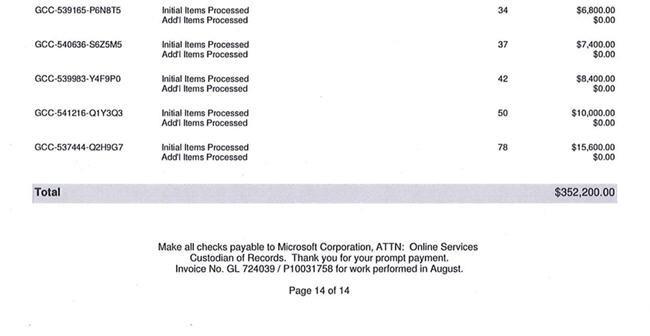 Microsoft factura FBI