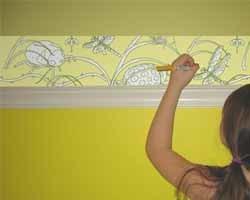 Para que pinten en las paredes