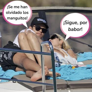 El 'Yate como' los morros de Danna Paola con su nuevo novio Álex Hoyer en alta mar: Estas son sus fotos más románticas en Ibiza