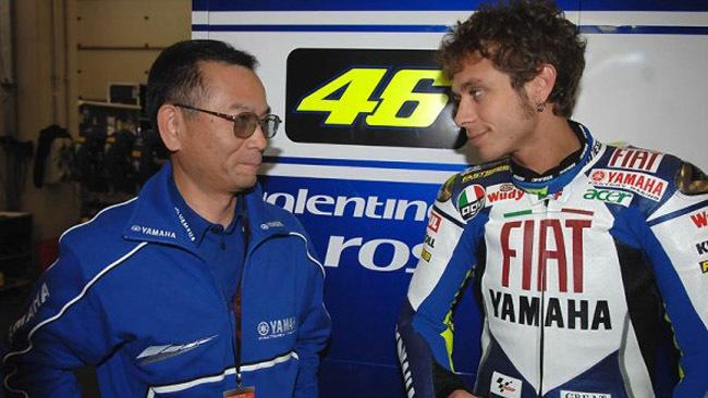 Masao Furusawa y Valentino Rossi