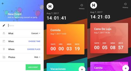 Hurry: la nueva app de Sam Ruston es una vistosa cuenta atrás para eventos