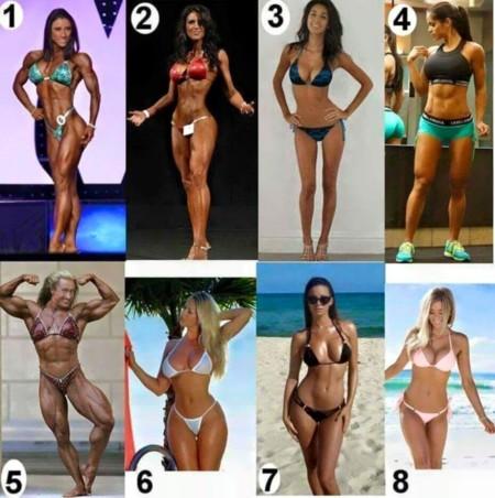La estética corporal de la mujer actual: Elige entre 8 fotos