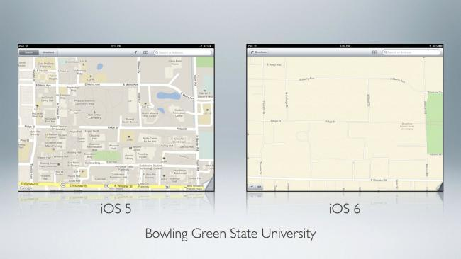 Mapas en iOS5 contra iOS6