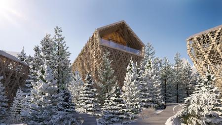 Peter Pichler Architecture Kitzbuhel Tree Suites Exterior Day