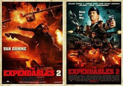 'Los Mercenarios 2', 'Total Recall (Desafío Total)' y 'El Legado de Bourne', nuevos carteles