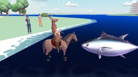 DEEEER Simulator, el loco juego de un ciervo con pistolas que  conduce un robot hecho con cuerpos de otros animales
