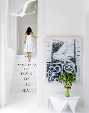 Un mensaje en la escalera