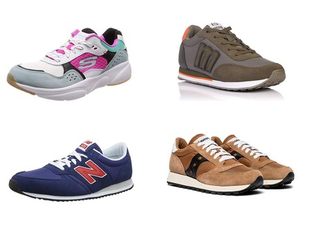 Chollos en tallas sueltas de zapatillas Saucony, Mustang, Sketchers y New Balance en Amazon