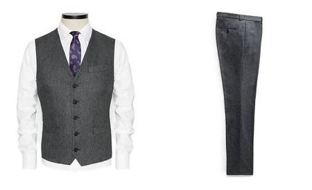 chaleco traje tres piezas tweed